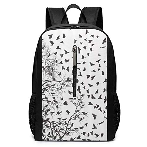TRFashion Sac à Dos Tree Birch Branch Nature Life Autumn Laptop Backpack 17 inches Travel Gym Bag Yoga Bag School Bag Book Bag for Men Women Teenagers