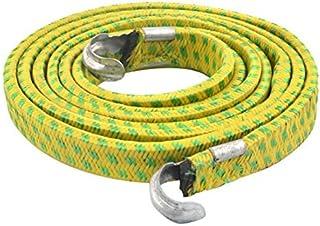 eDealMax Metal gancho de cierre elástico cuerda de la trenza Para Bicicleta de equipaje Cable 1.9