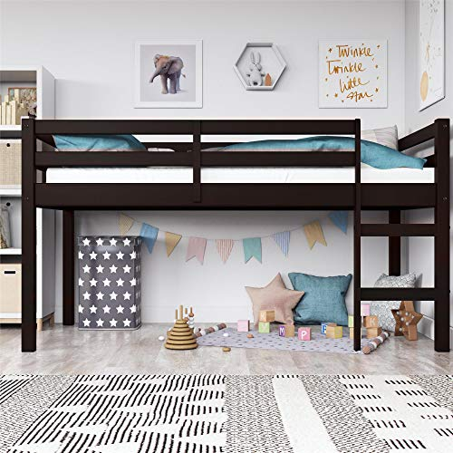 Dorel Living Milton Junior Twin Loft Bed, Espresso