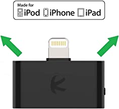 KOKKIA i10L (Black) : Digital Bluetooth Splitter Transmitter for iPhone, iPad, iPod Touch with Lightning Connector. Works Well Streaming to 2 Sets Apple AirPods (or 1 Set AirPods, 1 Set Bose Headset)