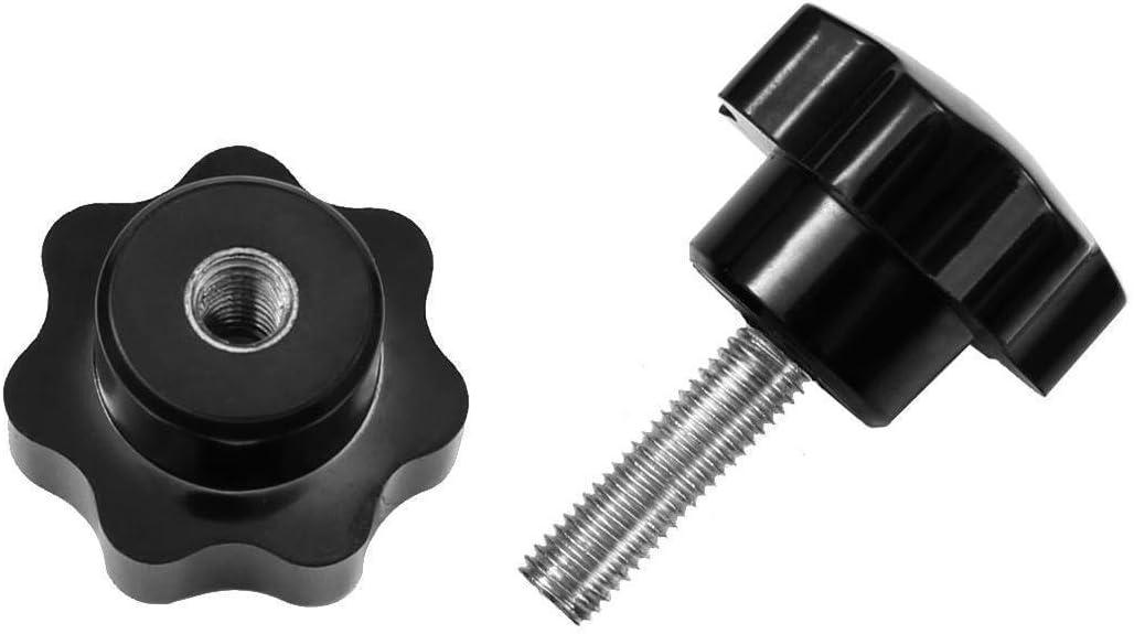 M6 M8 Sterngriffschraube Schwarze Kunststoff Sterngriff Schraube Thumbscrews 22#