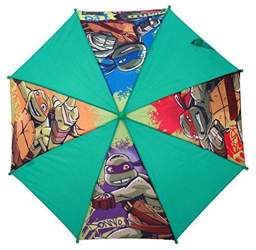 Chanos Chanos Ninja Turtles Safety Runner Polyester Taslon Folding Umbrella, 37 cm, Green Regenschirm, Grün (Green)