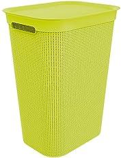 Rotho, Brisen, Wasverzamelaar 50l met deksel en 2 handgrepen, Kunststof (PP) BPA-vrij, antraciet, 50l (43,1 x 34,0 x 52,9 cm)