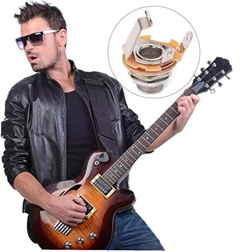 10pcs Mono Zócalo De Gato De 1/4 '' Stratocaster Reemplazo De Partes De Guitarra O Guitarra Pedales De Bajo Fender Footswitch