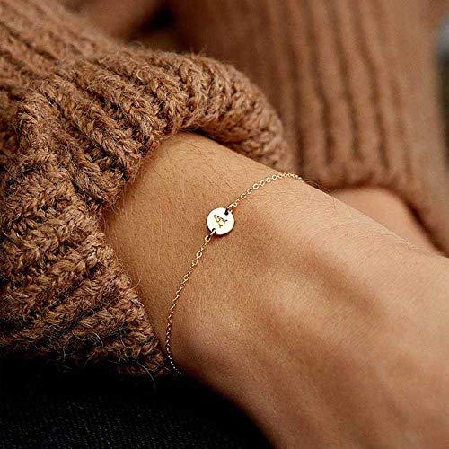 Europese en Amerikaanse Mode Sieraden-Kleur Letter Armband en Bangle voor Zilver Verstelbare Naam Armbanden Sieraden, Thumby Gold A