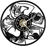 Fotografía Vinilo Record Reloj de Pared LED Luces de Pared de Luz de Noche Lámpara de Pared Hecho a Mano Decoración La Mejor Idea