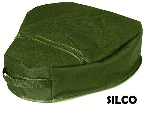 Green Bean Bag Shooters Cushion Seat Kneeling Pad - fishing gardening picnic