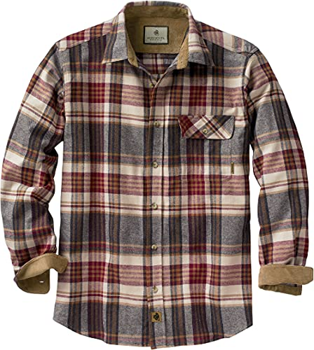 Legendary Whitetails Buck Camp Flannels Cedarwood Plaid X-Large