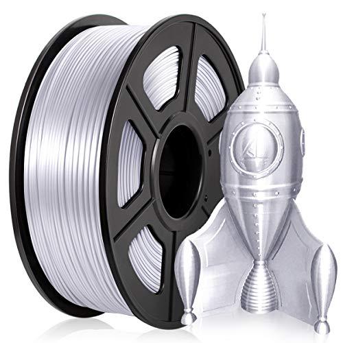PLA Filamento 1,75MMM, PLA Filamento Stampante 3D PLA Silk 1KG,PLA Shiny Silky Silver
