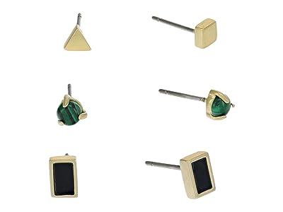 Madewell Onyx Stud Set Earrings