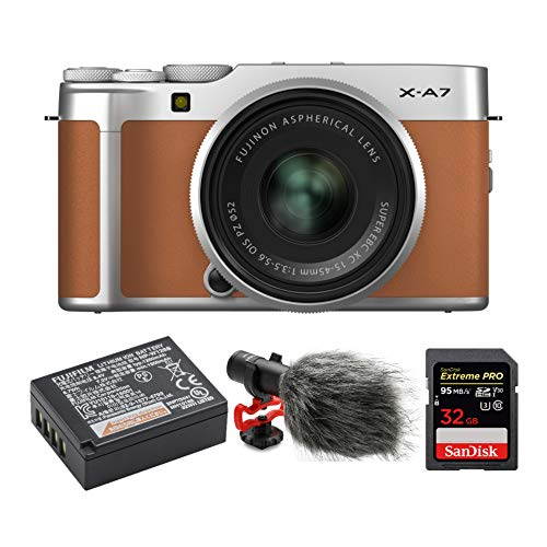 Find Discount Fujifilm X-A7 Mirrorless Camera with 15-45mm f/3.5-5.6 Lens (Camel) Video Blog Bundle ...