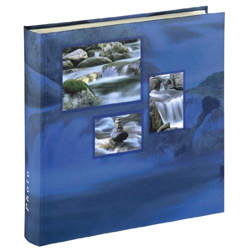 Hama Jumbo Fotoalbum Singo (Fotobuch 30x30 cm, Album mit 100 weißen Seiten, Photoalbum zum Einkleben und zum Selbstgestalten) blau