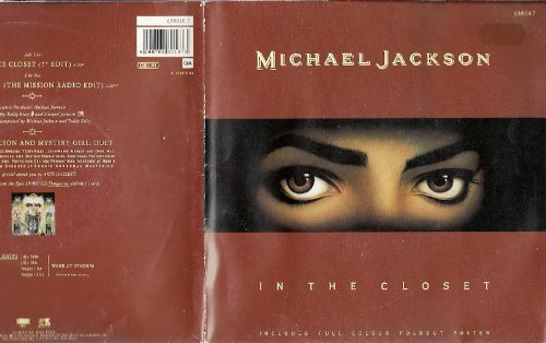 """Michael Jackson And Mystery Girl In The Closet In a Poster Sleeve UK 45 7"""" sgl"""