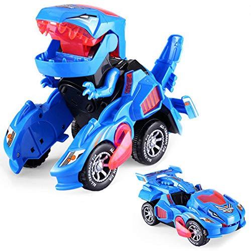 IWILCS Dinosaurier Transformator Auto Spielzeug, Transformer Dinosaurier Auto, Transforming Dinosaur Led Car, mit Licht Und Soundfunktion, Lernspielzeug für Kinder, Jungen und Mädchen