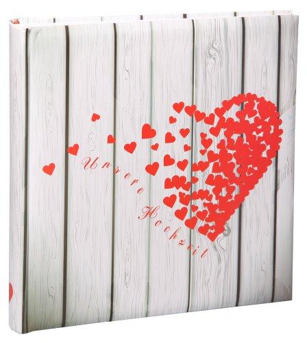 Herz Hochzeit Fotoalbum in 30x30 cm 100 Seiten Jumbo Hochzeitsalbum Foto Album