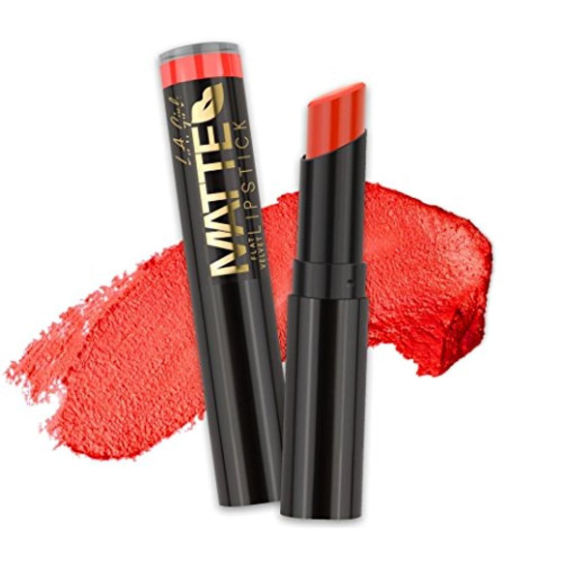 観光に行く抑圧する邪悪な(6 Pack) L.A. GIRL Matte Flat Velvet Lipstick - Frisky (並行輸入品)