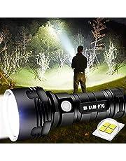 30000-100000 Lumen Krachtige Led Waterdichte Zaklamp Lamp Ultra Helder, Oplaadbaar Hand Zoeklicht Voor Outdoor Wandelen Jagen (50W-P70, Dubbele lithiumbatterij)