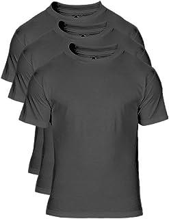 Alstyle Men's Cotton Crew Neck Short Sleeve T-Shirt 3-Pack