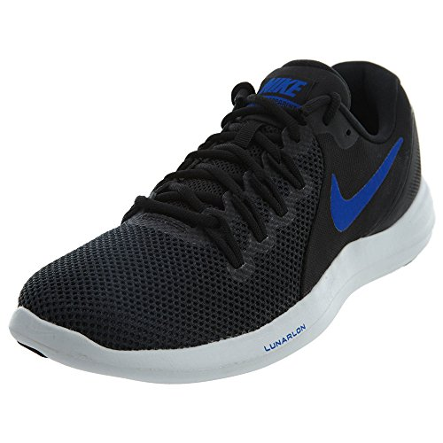 NIKE Men's Lunar Apparent Running Shoes-Black/Racer Blue-8