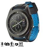 DAM Silica DMT179BLACKBLUE - Smartwatch G6 con Display Circolare e Cinturino in Gomma, Colore: Nero/Blu