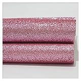 Es ist der Bogenherstellung 1 stück 21 cm * 29 cm A4 Glitter Synthetische PU-Lederblechstoff Künstliche Leder Faux Leather Craft Supplies Lederbleche zum Handwerk (Color : Light pink)