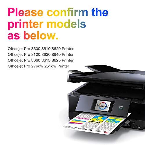 Uniwork 950XL 951XL Cartuchos de Tinta Reemplazo para HP 950 951 XL Compatible con HP Officejet Pro 8100 8600 8610 8620 8630 8640 8660 8615 8625 251dw 276dw (1 Negro, 1 Cian, 1 Magenta, 1 Amarillo)