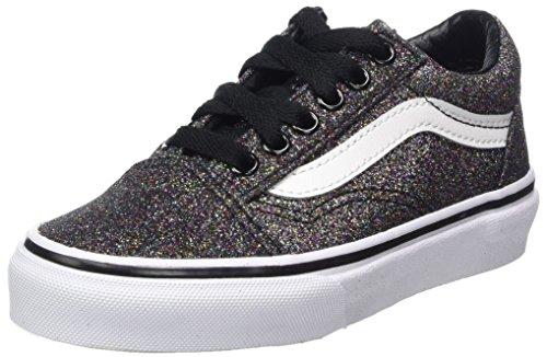 Vans Unisex-Kinder Old Skool Sneaker, Schwarz (Glitter), 27.5 EU