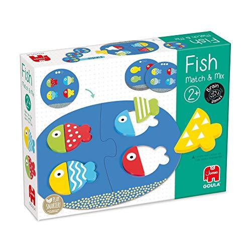 Goula, Fish match & mix, Juguete educativo para aprender formas y colores para niños a partir de 2 años
