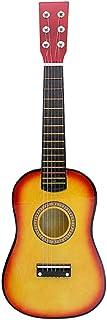 Guitarra Para Principiantes De 23 Pulgadas Guitarra Pequeña Olmo Instrumento Musical Guitarra Acústica De Madera Profesional Para Principiantes Niños Adultos (Puesta de sol)