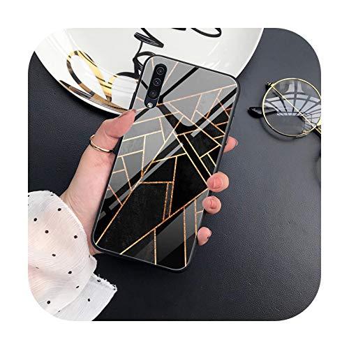 Hopereo Carcasa de mármol para Samsung A50, A70, A20, A40, A51, A71, A20E, S10, S20, S9, S8, S7 Edge, Ultra Puls, Note 10, 9, 8 Plus, cubierta de vidrio templado-W3332-Note 10