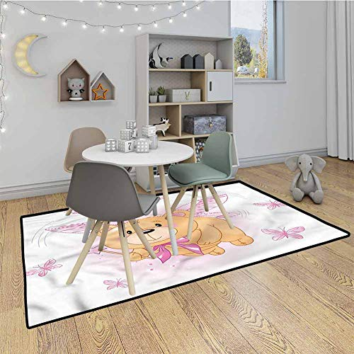 Amazing Deal Toddler Indoor/Outdoor Rug Mat Cute Teddy Bear Fairy Wings Kids Baby Toddler Outdoor or...