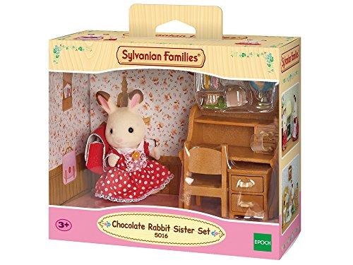 Sylvanian Families - 5016 - Set de escritorio Freya Conejo Chocolate