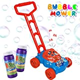 FOSUBOO Outdoor Toys for 2 Year Olds Girls, Bubble Machine Bubble Blower for Toddlers, Automatic Bubble Lawn Mower with Refill Solution, Kids Toys for Age 2+, Over 600 Colorful Bubbles per Min Use