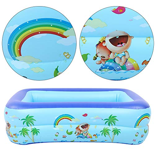 Piscina para niños, Piscina Inflable Azul, Piscina para niños, Suministro de natación para Entretenimiento de Verano
