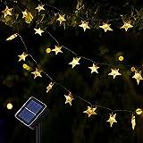 Catene Luminose, OxyLED 59Ft 110 LED Stelle Stringa di Luci Catena Luminosa Esterno Solare Stringa di Luce Impermeabile Luci di Fata per Natale Giardino Matrimonio Festa (bianco caldo)