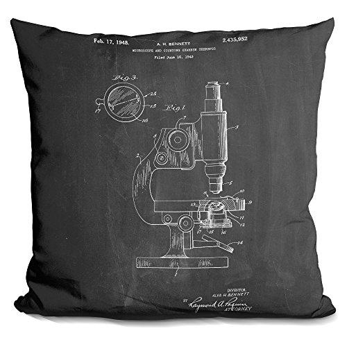 LiLiPi Microscope Decorative Accent Throw Pillow