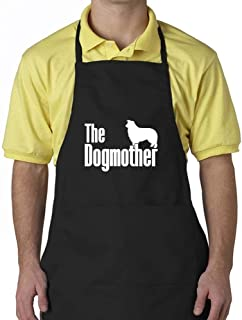 """Eddany The dogmother Border Collie Apron 24"""" wide by 30"""" long."""
