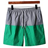 WDDGPZDK Short De Plage/ Calf-Length Fashion Shorts Hommes Fitness Musculation Pantalon Court Homme Short,1050,Vert XXXL