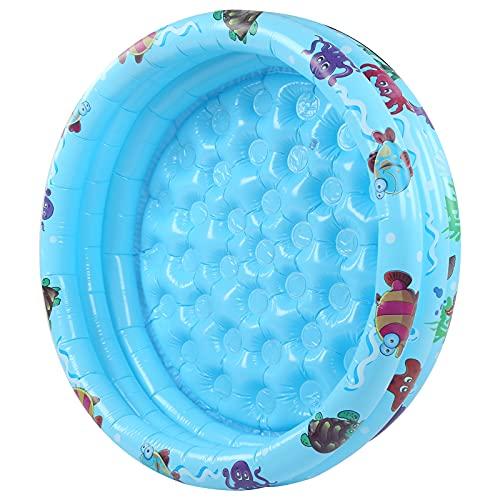 BOLORAMO Piscina Inflable para niños, Juego de Agua Interior, Piscina Inflable Redonda, Azul para baño, para Playa, Junto al Lago(120cm)