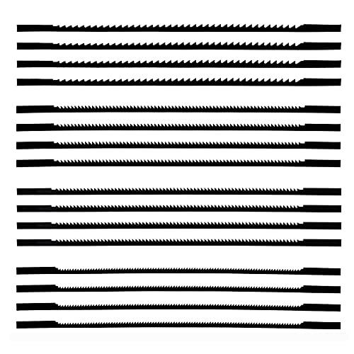 16 Stücke Dekupiersägeblätter, Dekupiersägeblätter Mit Spiralzähnen, Für Holz Metallplastik Schneiden Sägen, Standard-Feinschnitt-Sägeblätter (130 mm)