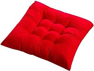 Mesa de Comedor y Silla Silla de Comedor tapizada Terraza Terraza Interior al Aire Libre Garden Cojín de Engrosamiento 40x40-rojo