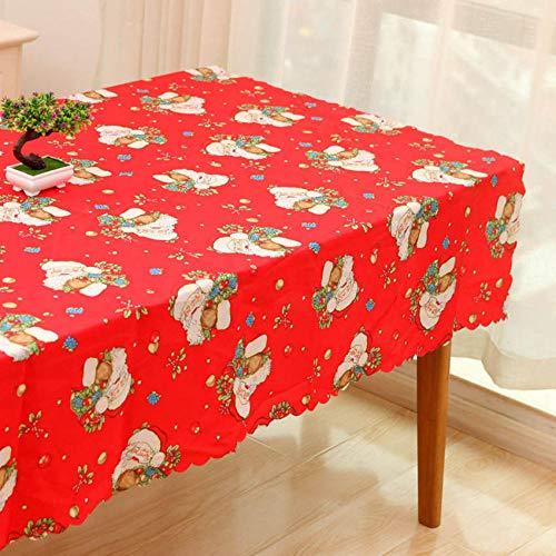 Branfan Kerstmis Tafelkleed Kaars Lint Kerstman Europa Cover Achtergrond Doek Eettafel Hotel Tafelkleden Restaurant Banket Patroon_1_Tablecloth_140x200cm