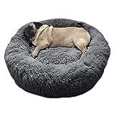 Lit pour animal domestique/chien/chiot/chat, doux et en forme ronde de doughnut