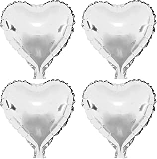 22 pcs Silver Heart Shape Foil Mylar Balloons for birthday party decorations, Wedding decorations, engagement party, celebration, holiday, show, party activities.(size:18