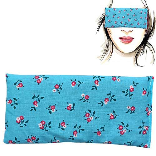 Almohada para los ojos 'Turquesa' | Semillas de Lavanda y arroz | Yoga, Meditación, Relajación, descanso de ojos...