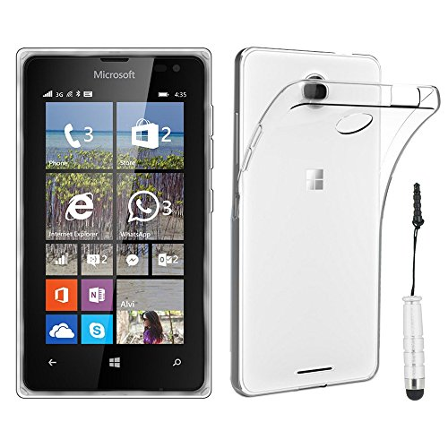 ebestStar - Funda Compatible con Microsoft Lumia 435 Carcasa Silicona, Protección Crystal...