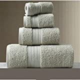 Juego de toallas 150* 80 cm 3 unids/set 100% algodón toalla de baño super absorbente toalla de rizo grande espesar adultos...
