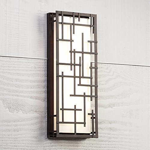 Modern Lines Outdoor LED Wall Light Designer Lines Bronze Exterior 6 1/4