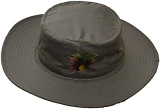 Walker and Hawkes - Unisex Wax Outback Aussie Wide Brim Hat - Olive