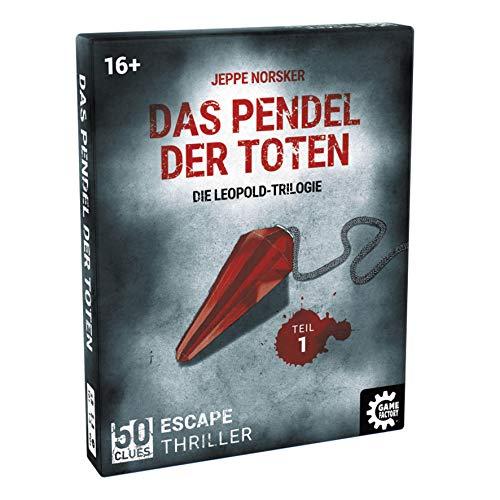 50 Clues - Das Pendel der Toten, Escape-Thriller zum Mitspielen und Rätseln, Exitgame, Rätselspiel Krimispiel, Leopold Trilogie, Teil 1